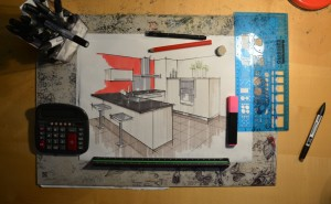 Atelier Lebouvier perspective projet cuisine